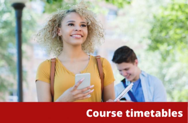 Collegamento a Course timetables